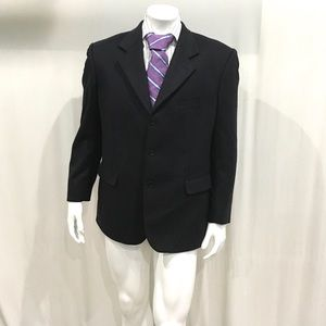 Loro Piana Mens Black Cashmere Sport Coat